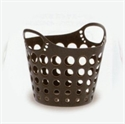 圓桶雙耳洞洞整理籃-巧克力咖啡