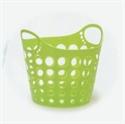 圓桶雙耳洞洞整理籃-萊姆綠