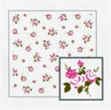玫瑰餐巾紙-白