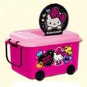 【錦化成】玩具收納箱-KITTY