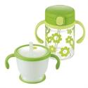 【Richell】兒童吸管杯組(綠色)