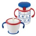 【Richell】兒童吸管杯組(藍色)
