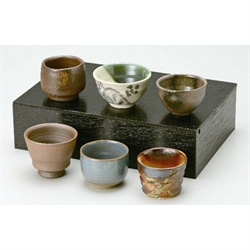 6入 迷你瓷酒杯(日本六古窯 陶都ぐい吞6客)