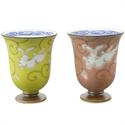 酒杯禮盒-有田焼 彩釉福ウサギ ペア姫グラス