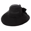 【COOL】蝴蝶結寬緣遮陽帽-黑