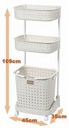 【JEJ】三層洗衣籃 (白)