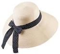 【COOL】UV緞帶防曬帽-米色