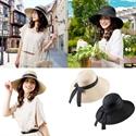 【COOL】UV緞帶防曬帽-黑