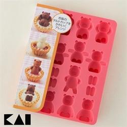 【貝印】巧克力模型 小熊