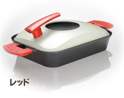 【AUX】蒸氣烤盤 (紅)
