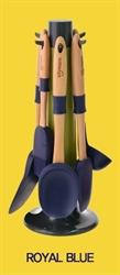 【sillymann】木柄廚具六件組-藍