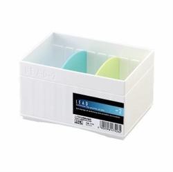 【INOMATA】LEAD 收納盒 (白色)