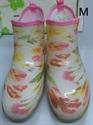 【NISHIBE】#781 雨鞋 (白底花-M)