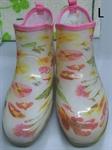 【NISHIBE】#781 雨鞋 (白底花-L)