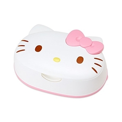 【LEC】HelloKitty濕紙巾附盒(白)
