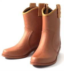 🌟【NISHIBE】#800 成人雨靴 (棕色-M)