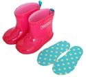 【stample】果凍粉雨鞋18cm