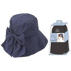 【SHF】女優抗UV蝴蝶結帽(海軍藍)