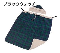 【COGIT】附帽寶寶保暖背巾毯(綠格子)