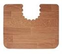 【SANKO】馬桶地墊-方型深木紋