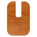 【SANKO】馬桶地墊-長型深木紋