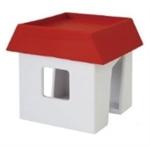 【八幡化成】創意收納小屋(紅色)