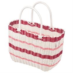 【PEARL】野餐 編織手提包(紅)