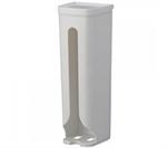 【INOMATA】抽取式塑膠袋架(白)