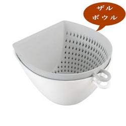 【曙産業】簸箕瀝水碗籃-白