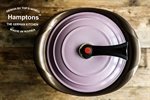 【Hamptons】28cm雙耳鑽石鬱金香湯鍋-紫