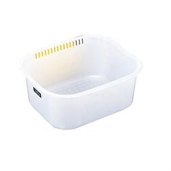 【INOMATA】角型洗桶 (白)