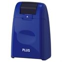 【PLUS】滾輪式 資料保護印章 (藍).