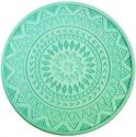 【HIRO】珪藻土 造型杯墊 (藍綠)