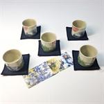 雅致茶杯組5入(玉兔)