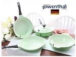 【Lowenthal】翡翠綠 陶瓷鈦晶鍋具 4件組