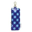 【SONIC】拉扣式鑰匙口袋 (藍格紋)