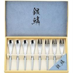 【關川製作所】銀鱗鎚目餐具8入組