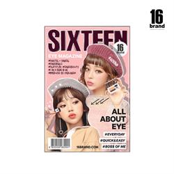 【16 Brand】迷你雜誌炫彩雙色眼影盤