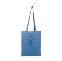 【senbado】環扣簡約肩背包-藍