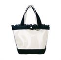 【senbado】透明抽鬚手提包-黑