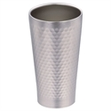 【PEARL】不鏽鋼真空槌目飲料杯(350ml)