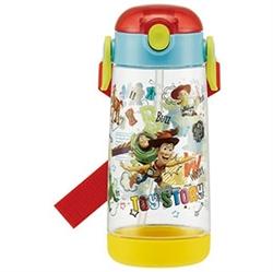 【SKATER】透明吸管水壺480ml(玩具總動員)