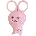 【下村工業】安全剪刀(附磁鐵)-兔子