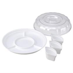 【INOMATA】派對 分隔餐盤(附蓋)