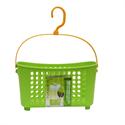 【INOMATA】吊鉤收納籃 (方型-綠)