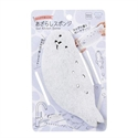 【MARNA】小海豹造型 海綿刷(白)