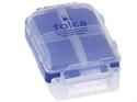 【YAMADA】3段式小物藥盒(透明蓋-藍)