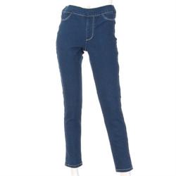 【GUNZE】刷毛單寧長褲 (深藍-M)