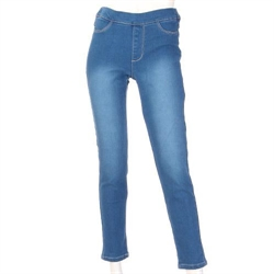 【GUNZE】刷毛單寧長褲 (藍-LL)