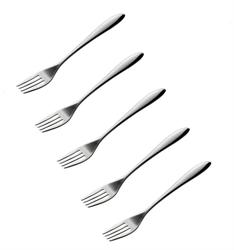 【AUX】18-8不鏽鋼點心叉 5入組